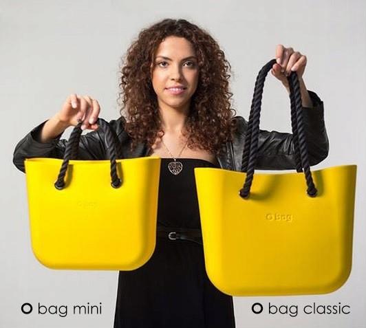 O Bag MINI vs O Bag STANDARD (žluté)